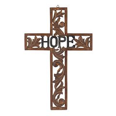 Stonebriar Collection Wood 'Hope' Cross Wall Decor