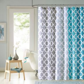 90 by Design Lab Nala Printed Shower Curtain & Hook Set