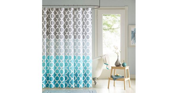 90 By Design Lab Nala Printed Shower Curtain Amp Hook Set