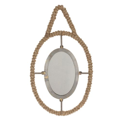 Stonebriar Collection Jute Wrapped Metal Wall Mirror