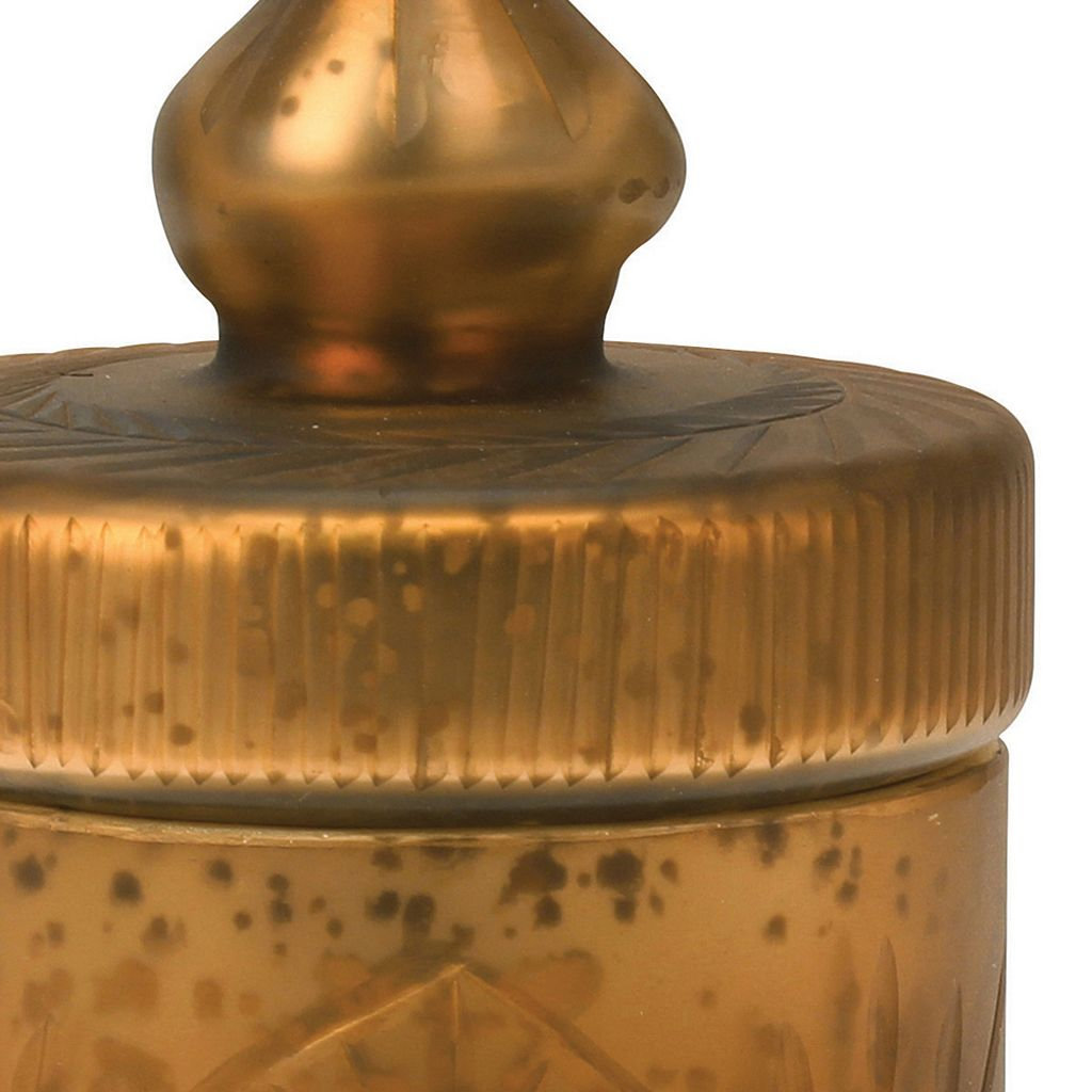 Stonebriar Collection Antique Mercury Glass Trinket Container