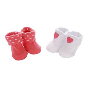 Baby Girl Carter's 2-pk. Heart & Dot Booties