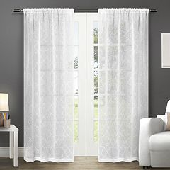Exclusive Home 2-pack Cali Embroidered Semi-Sheer Window Curtains - 50'' x 84''