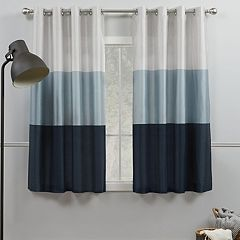 Exclusive Home 2-pack Chateau Striped Faux Silk Window Curtains