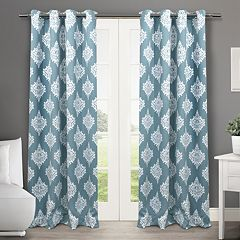 Exclusive Home 2-pack Medallion Blackout Thermal Window Curtains - 52'' x 84''