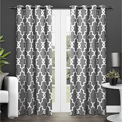 Exclusive Home 2-pack Ironwork Blackout Thermal Window Curtains - 104'' x 84''