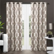 Exclusive Home 2-pack Ironwork Sateen Woven Blackout Window Curtains