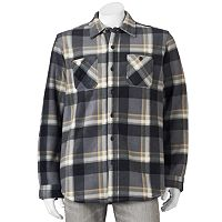 Men's Anchorage Expedition Plaid Sherpa Fleece Shirt Jacket