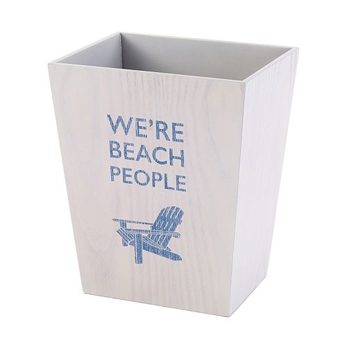 Avanti Beach Words Wastebasket