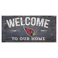 Arizona Cardinals Distress Welcome Sign