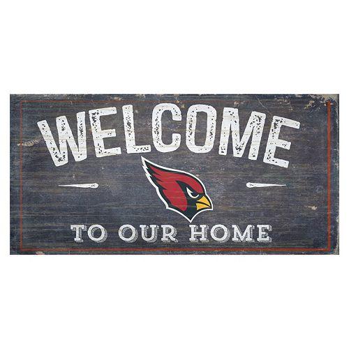 Arizona Cardinals Distress Welcome Sign