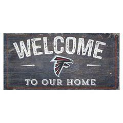 Atlanta Falcons Distress Welcome Sign