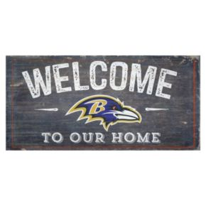 Baltimore Ravens Distress Welcome Sign