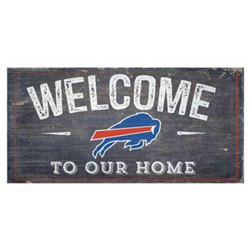 Buffalo Bills Distress Welcome Sign
