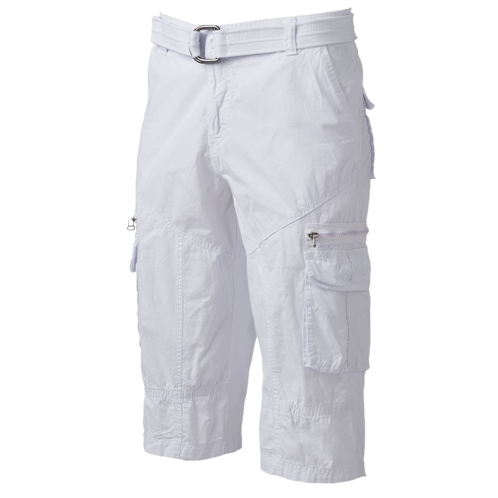 Men's XRAY Clam Digger Belted Cargo Shorts