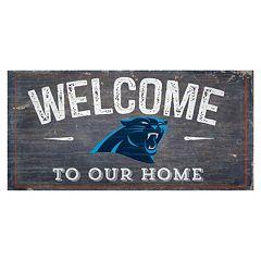 Carolina Panthers Distress Welcome Sign