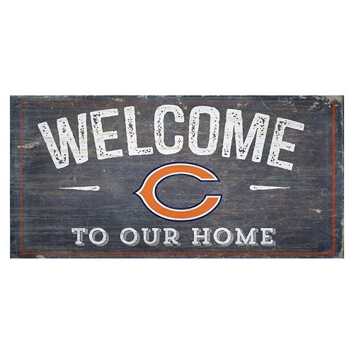 Chicago Bears Distress Welcome Sign