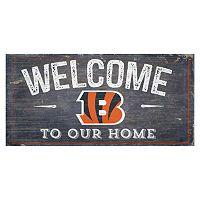 Cincinnati Bengals Distress Welcome Sign