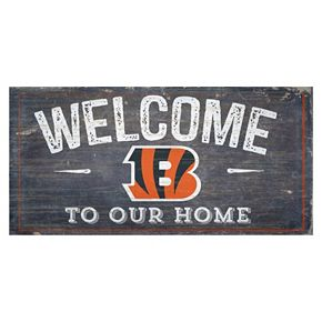 Cincinnati Bengals Distress Welcome Sign