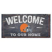 Cleveland Browns Distress Welcome Sign