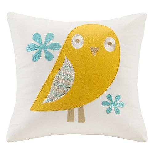 INK+IVY Kids Agatha Embroidered Square Throw Pillow