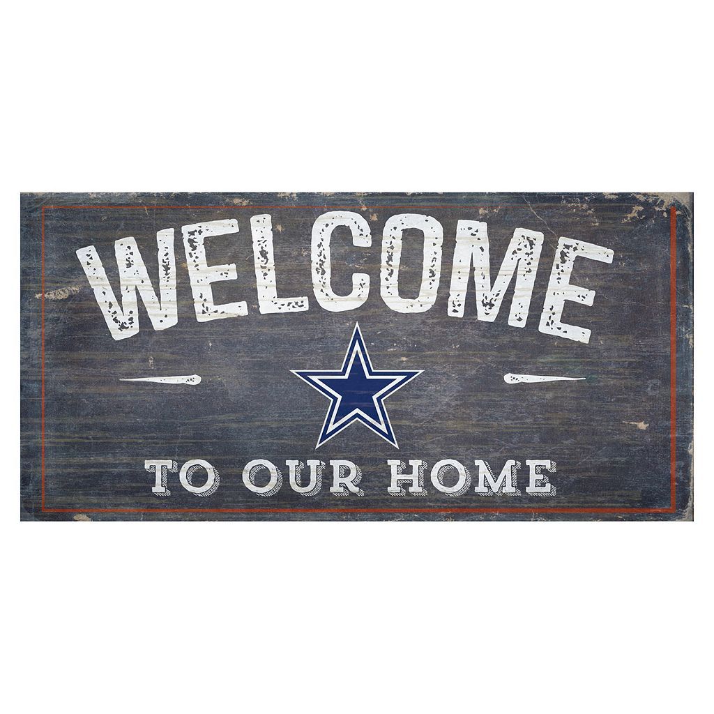 Dallas Cowboys Distress Welcome Sign