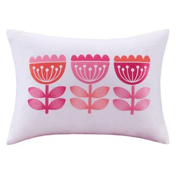 INK+IVY Kids Harriet Embroidered Oblong Throw Pillow