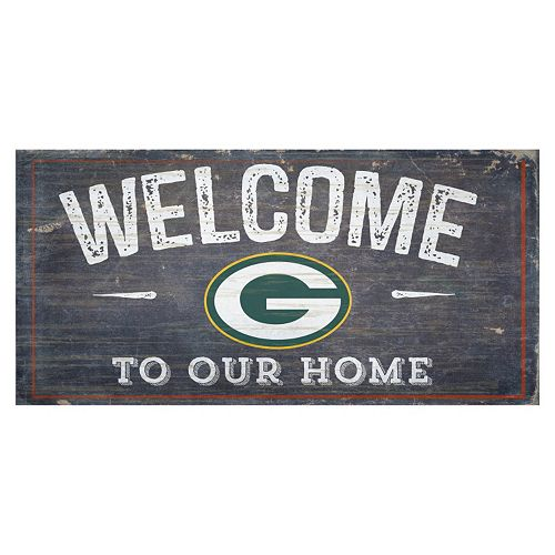 Green Bay Packers Distress Welcome Sign