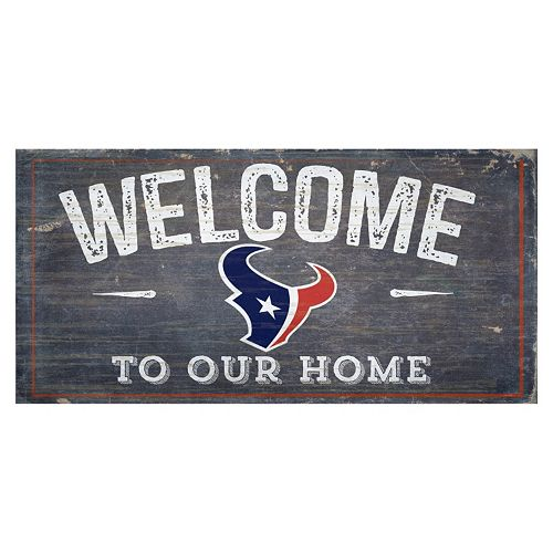 Houston Texans Distress Welcome Sign