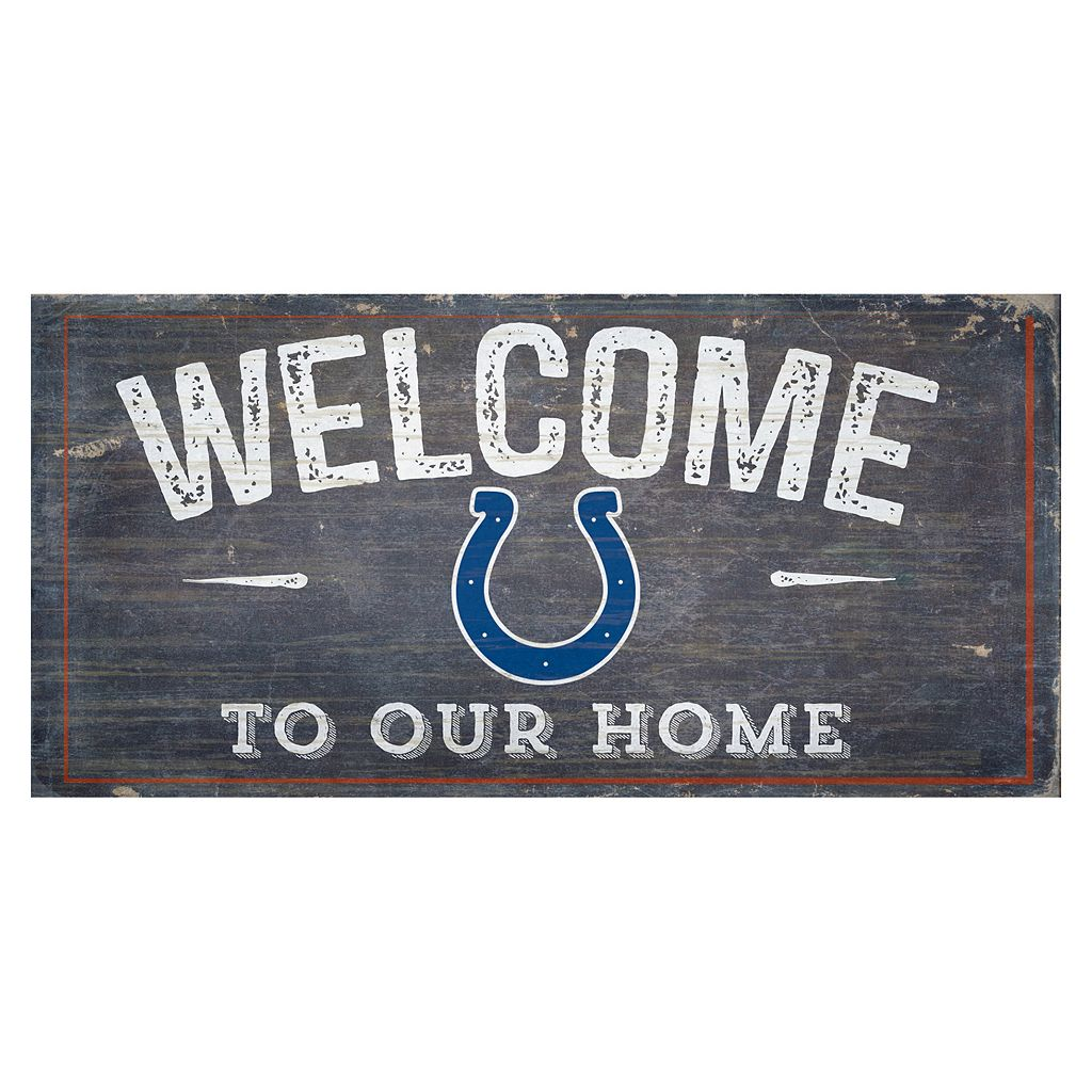 Indianapolis Colts Distress Welcome Sign