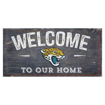 Jacksonville Jaguars Distress Welcome Sign