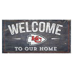 Kansas City Chiefs Distress Welcome Sign