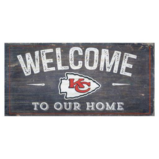 Kansas City Chiefs Distress Welcome Sign
