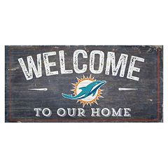 Miami Dolphins Distress Welcome Sign