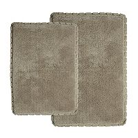 Chesapeake Verona Pleat Trim 2 pc Bath Rug Set