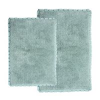 Chesapeake Verona Pleat Trim 2-Piece Bath Rug Set