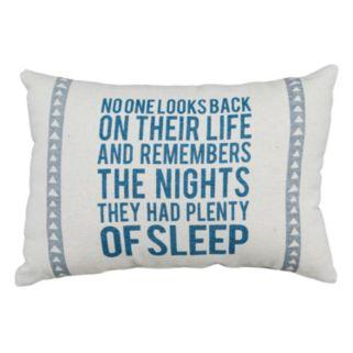 """Plenty Of Sleep"" Throw Pillow 2-piece Set"