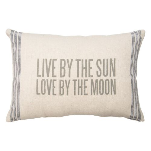 """""""Live By The Sun"""" Throw Pillow"""