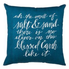 """Salt & Sand"" Throw Pillow"