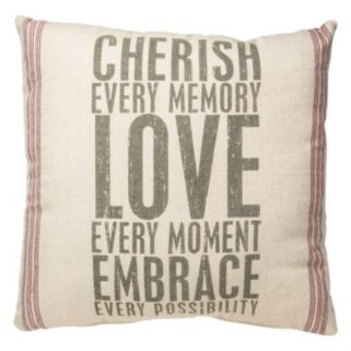 """Cherish"" Throw Pillow"