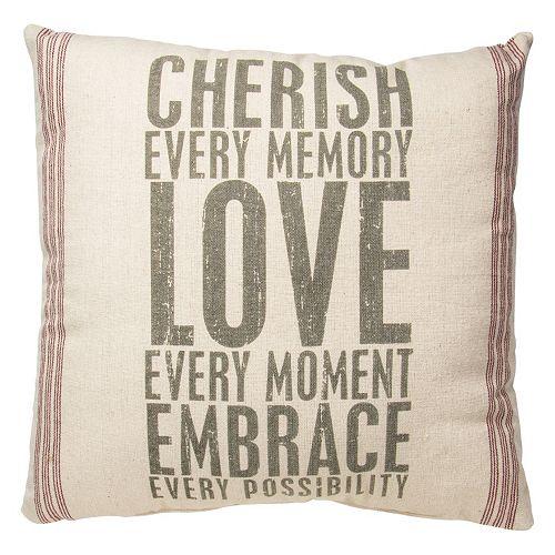 Cherish Throw Pillow