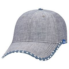 Women's Keds Chambray Dotted Brim Baseball Hat
