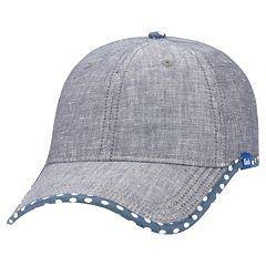 Women s Keds Chambray Dotted Brim Baseball Hat b6dcd278e294