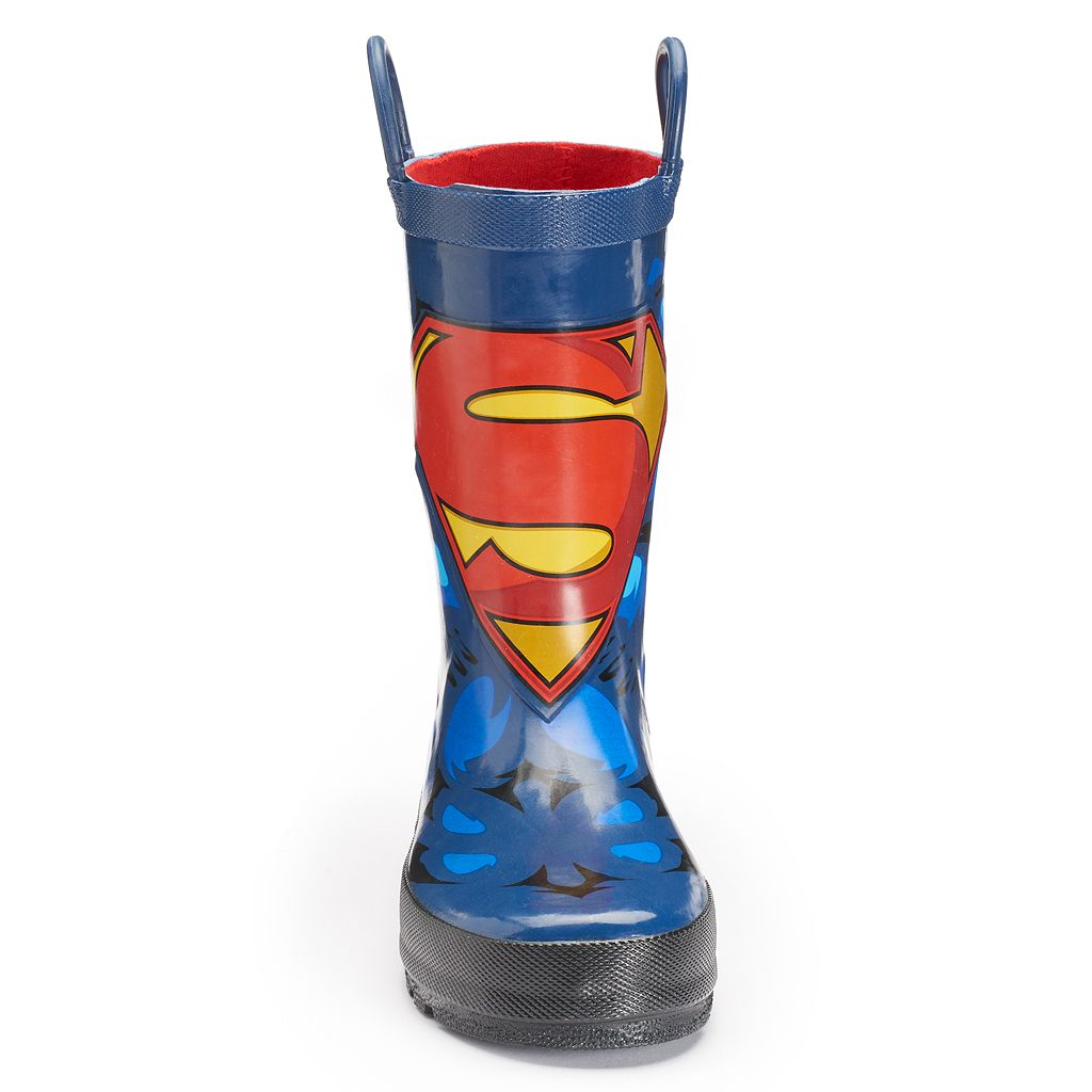 Western Chief DC Comics Superman Forever Toddler Boys' Waterproof Rain Boots