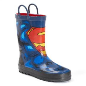 Western Chief DC Comics Superman Forever Boys' Waterproof Rain Boots