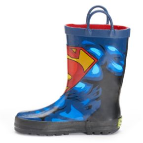 Western Chief DC Comics Superman Forever Boys' Waterproof Rain Boots