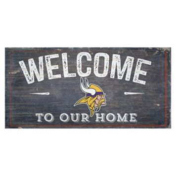 Minnesota Vikings Distress Welcome Sign