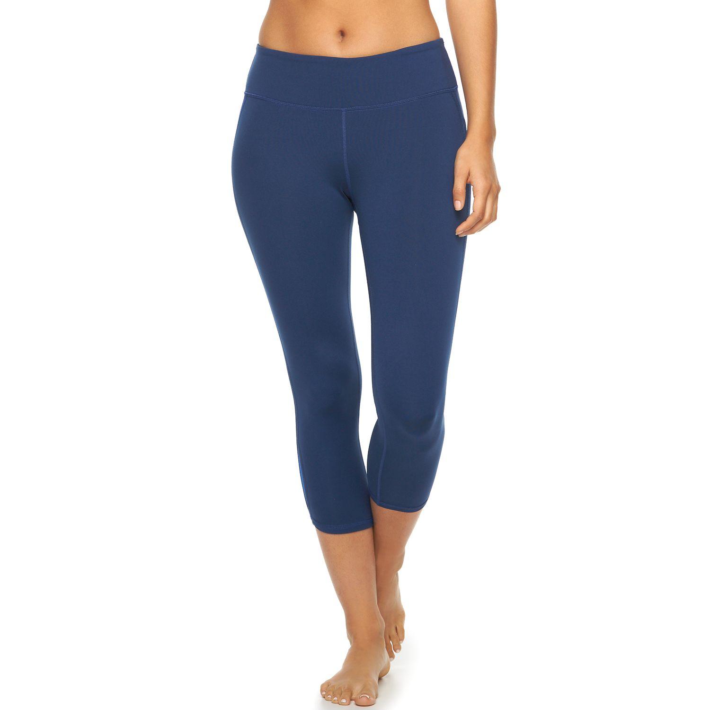 Womens Gaiam Cosmos Yoga Capri Leggings