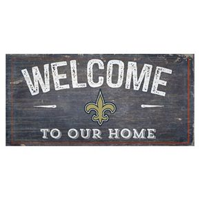 New Orleans Saints Distress Welcome Sign