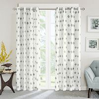 INK+IVY Ory Metallic Ikat Window Curtain